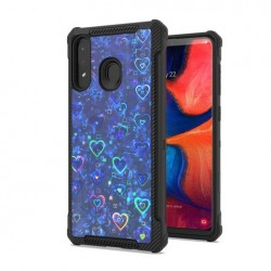 Premium Reflection Design Case Blue For Samsung A20