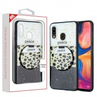Peace Out Mirror Hybrid Case (with Package) For Samsung A20