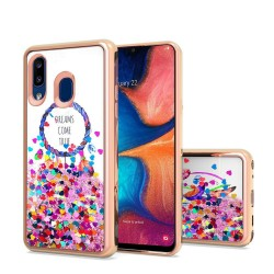 Design Water Quicksand Glitter Chrome TPU - Dreams Come True For Samsung A20