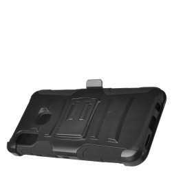 PR Hybrid Armor Case with Holster Black For Samsung A20
