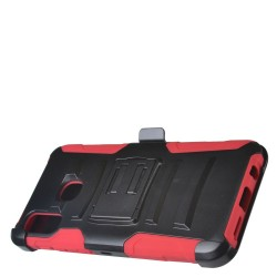 PR Hybrid Armor Case with Holster Red For Samsung A20