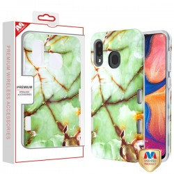 Onice Verde Persiano Marble/Transparent Clear TUFF Subs Hybrid Case (with Package) For Samsung A20