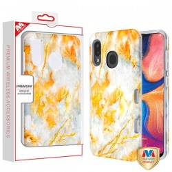 Nuvolato Etrusco Marble/Transparent Clear TUFF Subs Hybrid Case (with Package) For Samsung A20