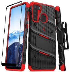 ZIZO BOLT SERIES FOR GALAXY A21 BLACK/RED