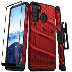 ZIZO BOLT SERIES FOR GALAXY A21 RED/BLACK