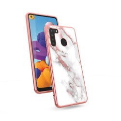 ZIZO REFINE SERIES FOR GALAXY A21 ROSE GOLD MARBLE