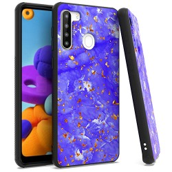 Chrome Flake Marble for Samsung A21 - Purple