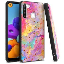 Chrome Flake Marble for Samsung A21 - Rainbow
