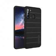 NEW TEXTURE BRUSHED METAL CASE FOR SAMSUNG A21 -BLACK
