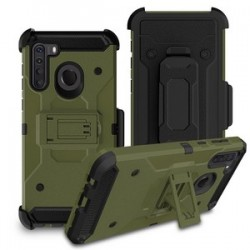 PREMIUM HYBRID HOLSTER FOR SAMSUNG A21 ARM GREEN