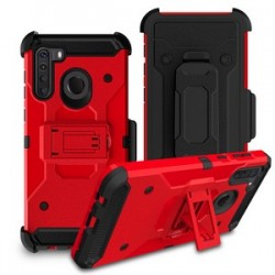 PREMIUM HYBRID HOLSTER FOR SAMSUNG A21 RED