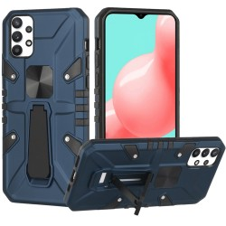 Force Magnetic Tough Kickstand Hybrid Case for Samsung Galaxy A32 5G - Blue