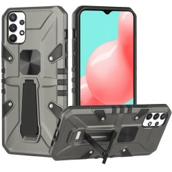 Force Magnetic Tough Kickstand Hybrid Case for Samsung Galaxy A32 5G - Gray
