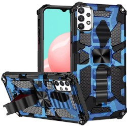 Machine Design Magnetic Kickstand Case for Samsung Galaxy A32 5G - Camo Blue