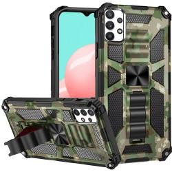 Machine Design Magnetic Kickstand Case for Samsung Galaxy A32 5G - Camo Green