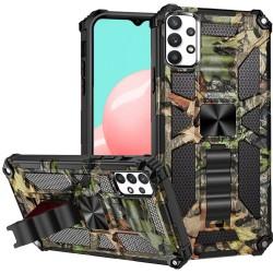 Machine Design Magnetic Kickstand Case for Samsung Galaxy A32 5G - Camo Jungle