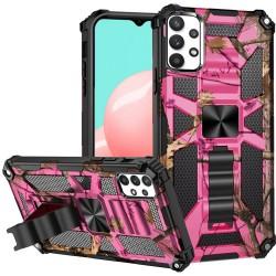 Machine Design Magnetic Kickstand Case for Samsung Galaxy A32 5G - Camo Pink