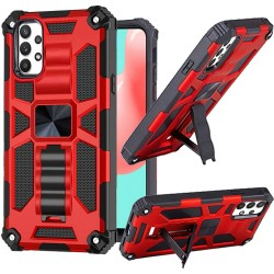 Machine Magnetic Kickstand Case for Samsung Galaxy A32 5G - Red