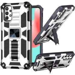 Machine Magnetic Kickstand Case for Samsung Galaxy A32 5G - Silver