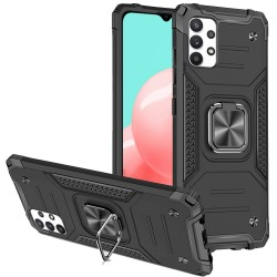Robust Magnetic Kickstand Hybrid Case for Samsung Galaxy A32 5G - Black