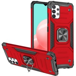 Robust Magnetic Kickstand Hybrid Case for Samsung Galaxy A32 5G - Red