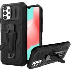 Travel Kickstand Clip Hybrid Case for Samsung Galaxy A32 5G - Black