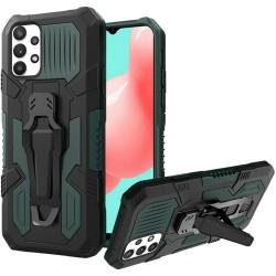 Travel Kickstand Clip Hybrid Case for Samsung Galaxy A32 5G - Midnight Green
