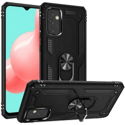 Magnetic Ring Kickstand Hybrid Case for Samsung Galaxy A32 5G - Black