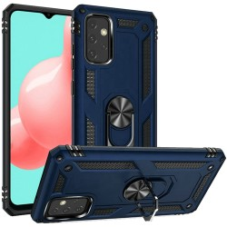 Magnetic Ring Kickstand Hybrid Case for Samsung Galaxy A32 5G - Blue