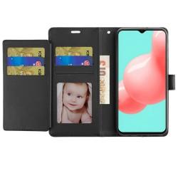 Wallet ID Card Holder Case for Samsung Galaxy A32 5G - Black