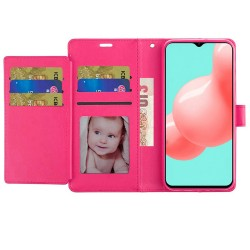 Wallet ID Card Holder Case for Samsung Galaxy A32 5G - Hot Pink