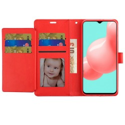 Wallet ID Card Holder Case for Samsung Galaxy A32 5G - Red