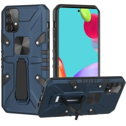 Force Magnetic Tough Kickstand Hybrid Case for Samsung Galaxy A52 5G - Blue