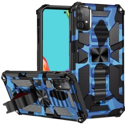 Machine Design Magnetic Kickstand Case for Samsung Galaxy A52 5G - Camo Blue