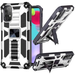 Machine Magnetic Kickstand Case for Samsung Galaxy A52 5G - Silver