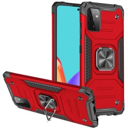 Robust Magnetic Kickstand Hybrid Case for Samsung Galaxy A52 5G - Red