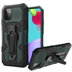 Travel Kickstand Clip Hybrid Case for Samsung Galaxy A52 5G - Midnight Green