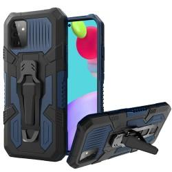 Travel Kickstand Clip Hybrid Case for Samsung Galaxy A52 5G - Navy Blue