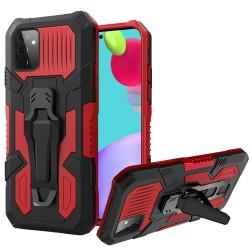 Travel Kickstand Clip Hybrid Case for Samsung Galaxy A52 5G - Red