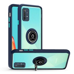 Magnetic Ring Stand Case for Samsung Galaxy A52 5G - Dark Blue