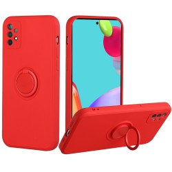 Extreme 2mm Ultra-Thick Ring Magnetic Stand Case for Samsung Galaxy A52 5G - Red
