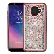 Rose Gold Electroplating/Dreamcatcher/Silver Confetti Quicksand Glitter Hybrid Protector Cover