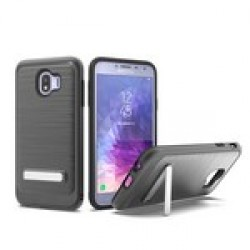 BRUSHED METALLIC W/ EDGE AND KICK FOR SAMSUNG Galaxy A6 2018_BLACK