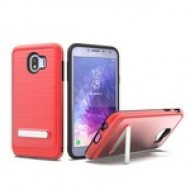 BRUSHED METALLIC W/ EDGE AND KICK FOR SAMSUNG Galaxy A6 2018_RED
