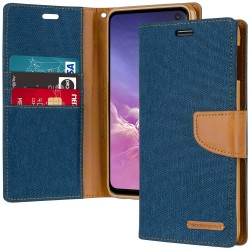CANVAS DIARY FOR GALAXY NOTE 10 (BLUE/CAMEL)
