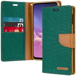 CANVAS DIARY FOR GALAXY NOTE 10 (GREEN/CAMEL)
