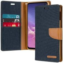 CANVAS DIARY FOR GALAXY NOTE 10 (NAVY/CAMEL)