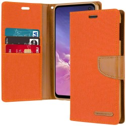 CANVAS DIARY FOR GALAXY NOTE 10 (ORANGE/CAMEL)