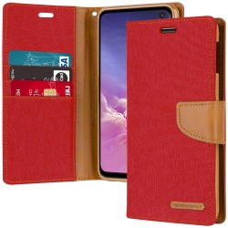 CANVAS DIARY FOR GALAXY NOTE 10 (RED/CAMEL)