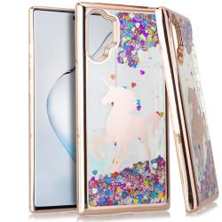 CHROME Glitter Motion Unicorn ROSE GOLD For Samsung Note 10 Plus